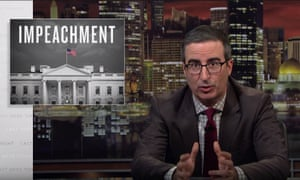 John Oliver: 'If this situation were to be a musical, it wouldn't be Bye Bye Birdie. It would obviously be Grease, where a rapey guy with weird hair treats women like shit and and yet somehow gets everything he's ever wanted.'