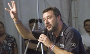 The League leader, Matteo Salvini
