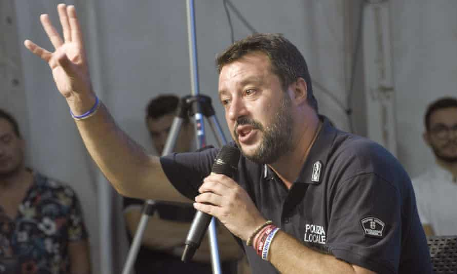 The League leader, Matteo Salvini