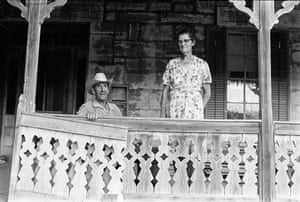 """Gillespie County, Texas, 1972.  Edwin and Paula Rausch, brother and sister who lived in the stone house built by their grandfather. """"The Rausch homestead reflected the backbreaking work of German family farmers who had immigrated to Texas when it was are public. It was built to last like the pyramids. Wendy Watriss and I worked in Gillespie County for two years to capture the German frontier of Texas."""""""