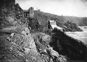 Crown engine at Botallack mine in the 1890s