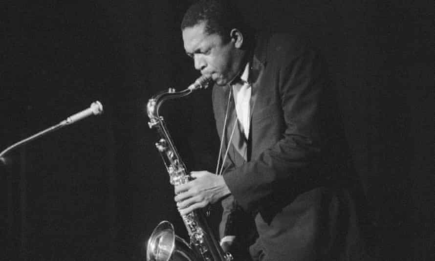 Enthralling … John Coltrane playing in Germany in 1959.