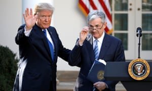 Donald Trump with Jerome Powell, then his nominee to become chairman of the Federal Reserve, Washington DC, November 2017.