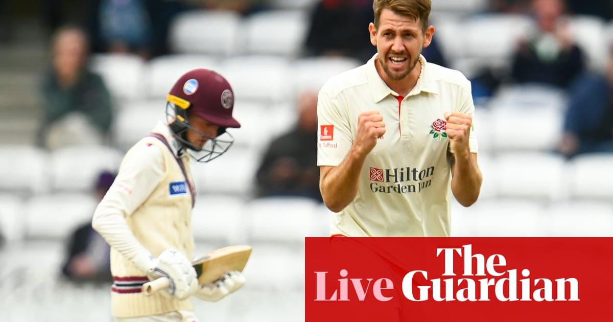 County cricket: Lancashire rout Somerset, Glamorgan v Gloucestershire – live!