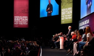 Jeremy Corbyn delivers his keynote address at the Labour conference