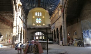 The interior of Gallego's cathedral in in Mejorada del Campo.