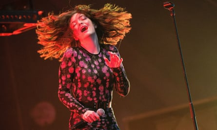 Murdering a stage ... Lorde performing at Glastonbury 2017.