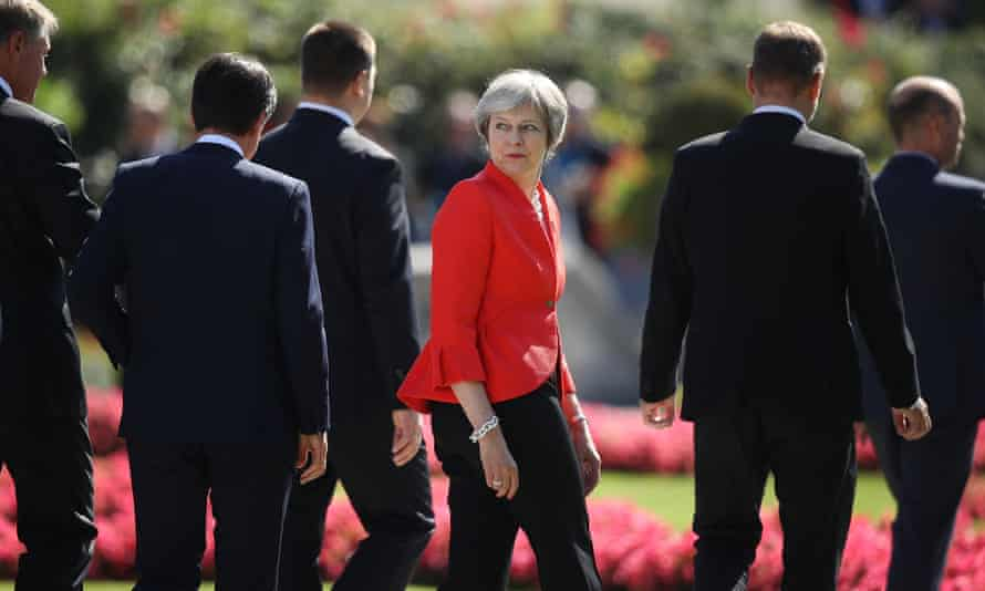 Prime Minister and Conservative leader Theresa May Resigns Austria Holds Informal EU Summit(FILE PHOTO) Prime Minister and Conservative leader Theresa May has announced on May 24, 2019 she will resign from her role on June 7, 2019. SALZBURG, AUSTRIA - SEPTEMBER 20: British Prime Minister Theresa May looks back as she and other leaders depart following the family photo on the second day of an informal summit of leaders of the European Union on September 20, 2018 in Salzburg, Austria. High on the agenda of the two-day summit is migration policy. (Photo by Sean Gallup/Getty Images)
