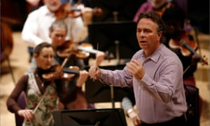 Mark Elder conducting the Hallé Orchestra in rehearsals at the Bridgewater Hall in Manchester. Elder came second in the election.