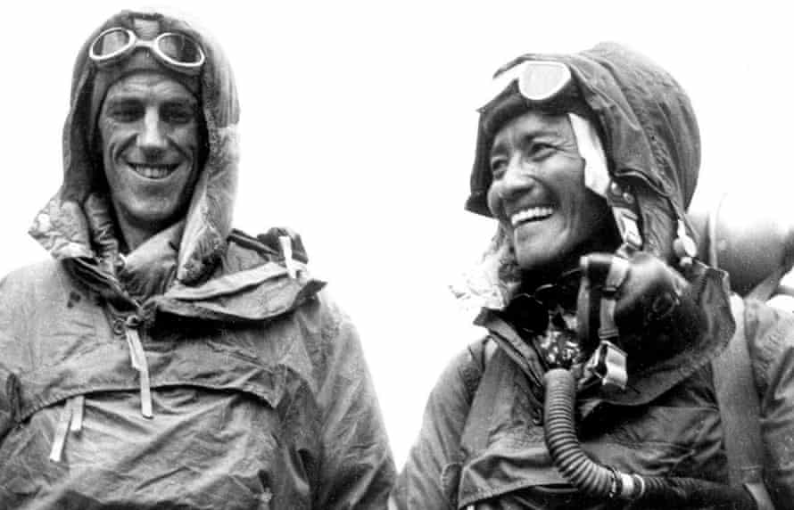 Edmund Hillary (left) and Tenzing Norgay after their conquest of Everest in 1953.