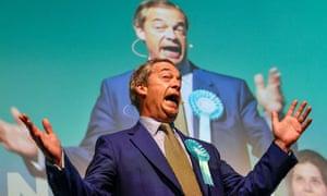Nigel Farage giving speech