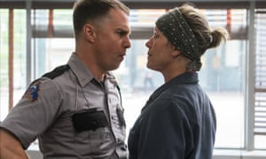 Messy and difficult ... Sam Rockwell and Frances McDormand in Three Billboards Outside Ebbing, Missouri.