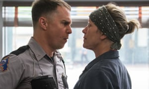 Sam Rockwell as the racist cop Dixon.