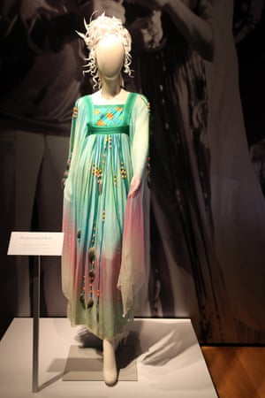 The Gina Fratini kaftan dress worn by Elizabeth Taylor on her second wedding to Richard Burton in 1975.