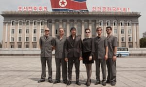 Cultural pioneers … Slovenian band Laibach in North Korea.