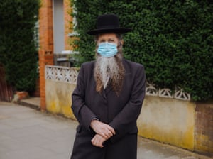 Eli Sufrin stands for a portrait in Stamford Hill, north London