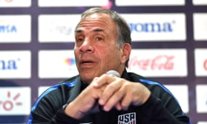 US coach Bruce Arena speaks during a press conference ahead of their World Cup qualifying match against Honduras.