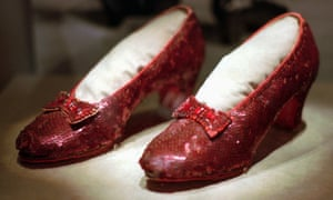 Another pair of the ruby slippers worn by Garland, owned by the Smithsonian
