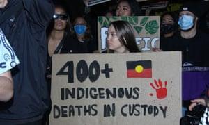 Protesters in Sydney earlier this week.
