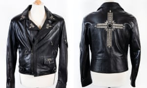 Leather jacket worn by Geezer on the Dehumaniser tour and Ozzy's farewell gig in Costa Mesa, California in 1992.
