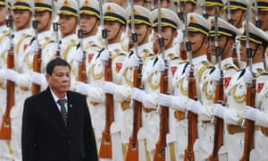 Philippines President Rodrigo Duterte during his visit to China where he said it was time to say goodbye to the United States.