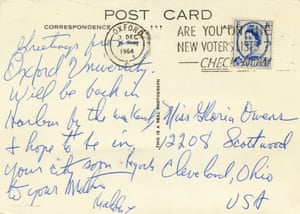 A postcard from Oxford written by Malcolm X.