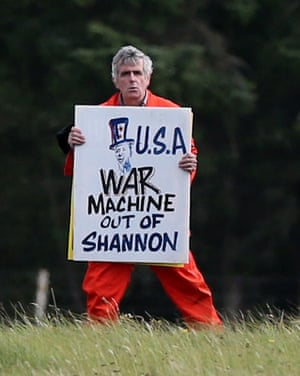 Protest at Shannon Airport