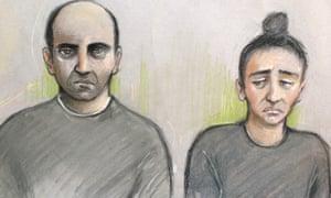 Ouissem Medouni (left), 40, and his partner Sabrina Kouider, 35, deny murdering Sophie Lionnet, whose body was found on a bonfire.