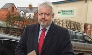 The Welsh first minister, Carwyn Jones, arrives to give evidence at the inquest into the death of Carl Sargeant