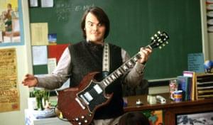 Jack Black in Richard Linklater's film School Of Rock