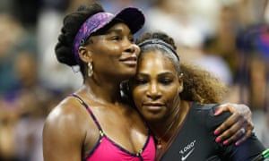 'Whenever a commentator calls a black athlete powerful it's as if skill, wit and tactics don't come into it' … Venus and Serena Williams.