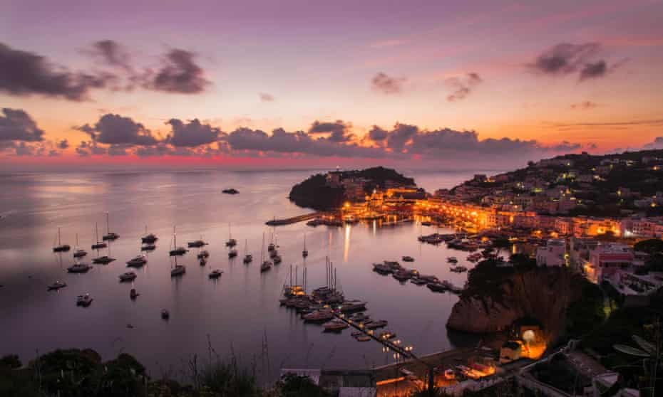 Sunrise on the Italian island.