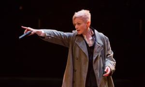 Alas, poor rolled-up beige sweater … Maxine Peake as Hamlet.