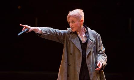 Alas, poor rolled-up beige sweater … Maxine Peake as Hamlet.