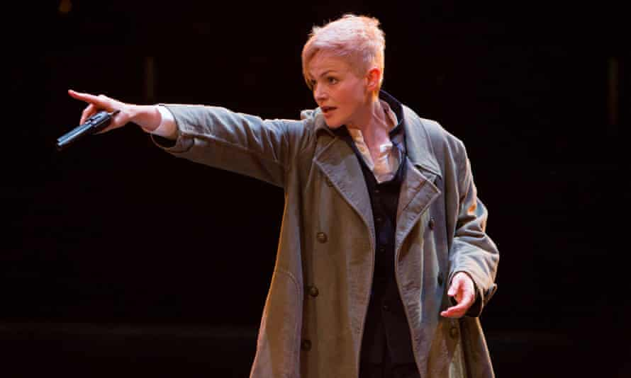 Maxine Peake as Hamlet in Hamlet at Manchester's Royal Exchange theatre.