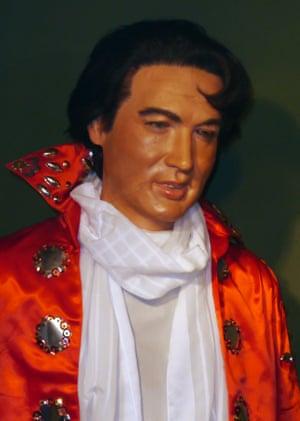 Waxwork of Elvis Presley Louis Tussauds House of Wax Museum, Great Yarmouth, Norfolk, Britain