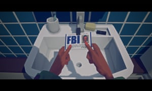Virginia screengrab: FBI badge over sink