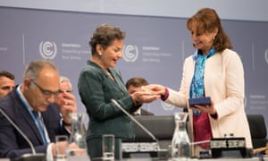 Outgoing UN climate chief Christiana Figueres