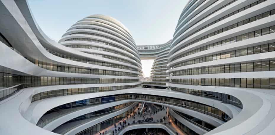 Look, no corners… Zaha Hadid Architects' Galaxy Soho complex in Beijing.