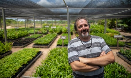 Doctor Eugenio Scannavino Netto, one of the creators of the Health and Happiness Project (PSA), at the seed bank.