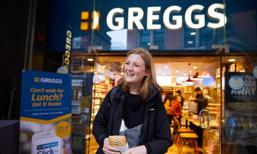 Rachel said she had to cut down on Greggs' previous vegan offering, the sausage roll
