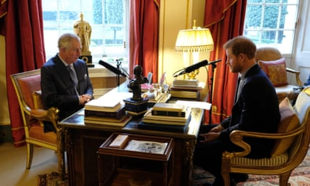Keeping it in the family: Prince Harry, guest editor of Today, interviews Prince Charles for the programme.