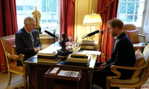 Prince Charles is interviewed by Today guest editor Prince Harry.