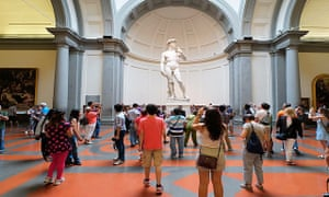 The statue of David in Galleria dell'Accademia, Florence.