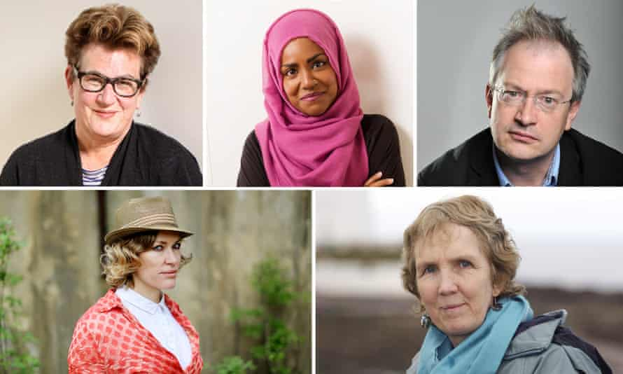 Composite for libraries story: Meg Rosoff, Nadiya Hussain, Robin Ince, Ann Cleves and Cerys Matthews