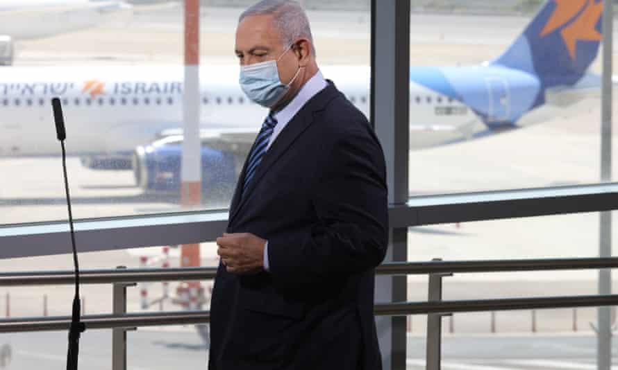 Benjamin Netanyahu visiting Ben Gurion airport last week