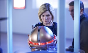 The Doctor (Jodie Whittaker) and Graham (Bradley Walsh) with Twirly