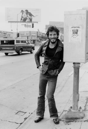 Springsteen, pictured on Sunset Strip in 1975 while promoting his album Born To Run.