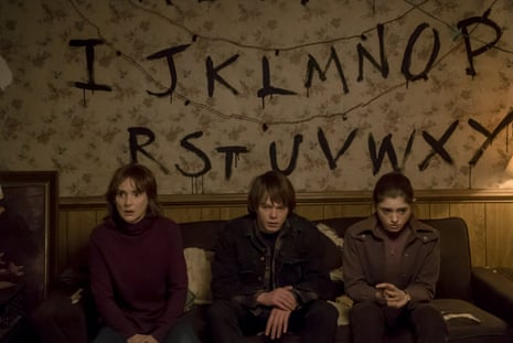 Winona Ryder, Charlie Heaton and Natalia Dyer in Stranger Things.