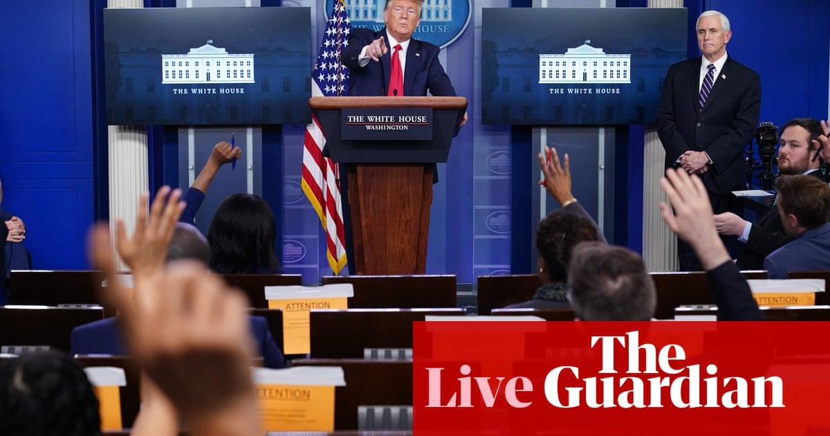 Coronavirus US live: Trump again criticizes WHO as 400,000 cases confirmed in America
